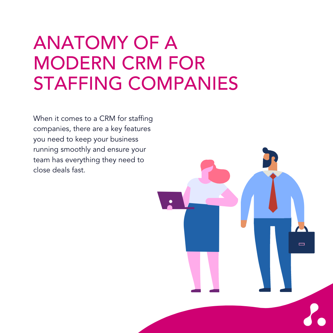 Anatomy of a Modern CRM for Staffing Companies Graphic